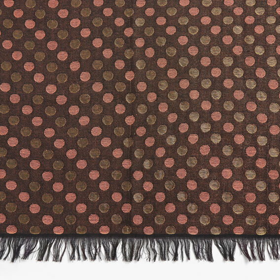 MINI SPOT METALLIC SCARF  BLACK/GOLD/TAN  hi-res