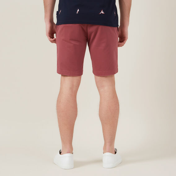SLIM-FIT STRETCH CHINO SHORT  WASHED BERRY  hi-res