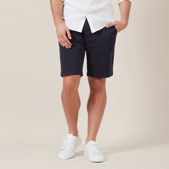 RELAXED FIT STRETCH CHINO SHORT  MIDNIGHT  hi-res
