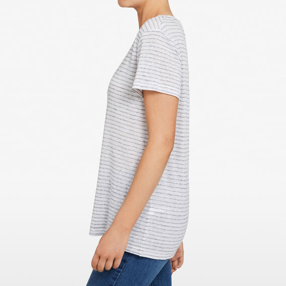 TEXTURED STRIPE TEE  SUMMER WHITE/NOCTURN  hi-res