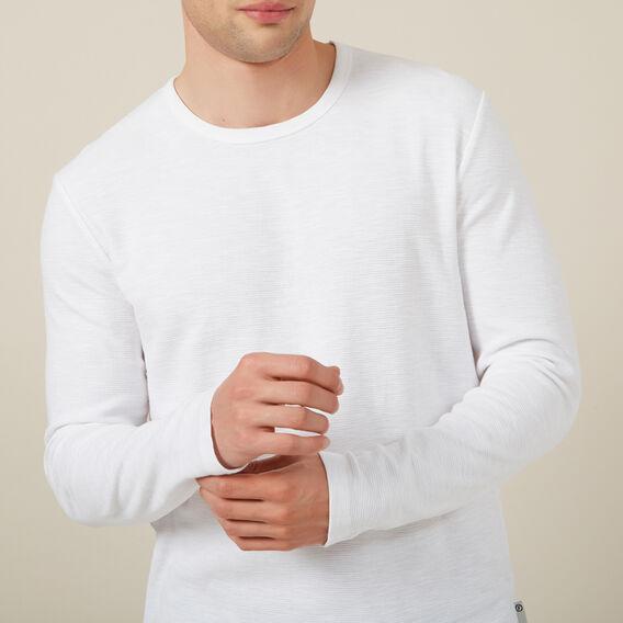 WAFFLE L/S T-SHIRT  WHITE  hi-res