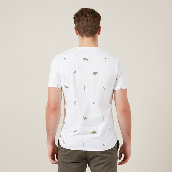 EXOTIC ANIMALS T-SHIRT  WHITE  hi-res