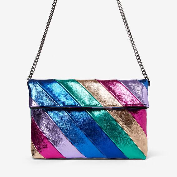 RAINBOW CLUTCH BAG  MULTI  hi-res