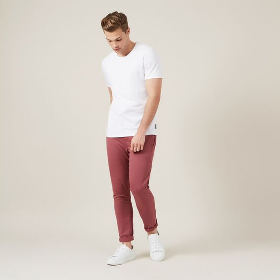 SLIM FIT STRETCH CHINO PANT  WASHED BERRY  hi-res