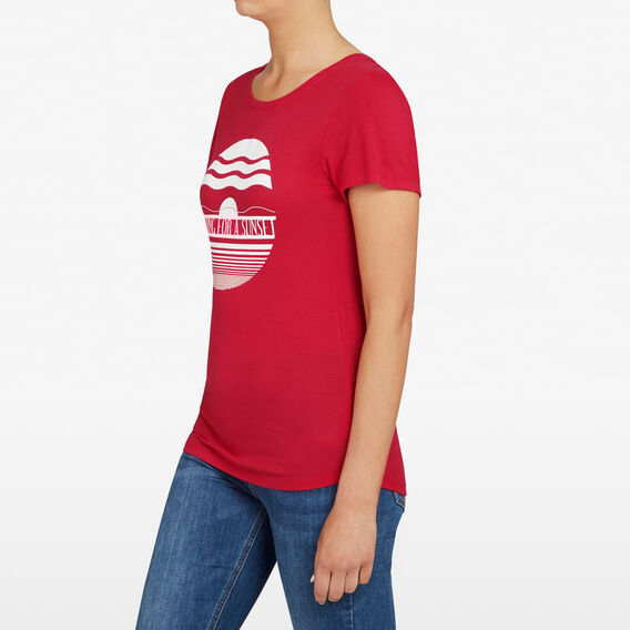 WAITING FOR A SUNSET TEE  RED/SUMMER WHITE  hi-res