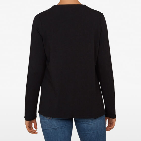 CREW NECK SLOUCHY TEE  BLACK  hi-res