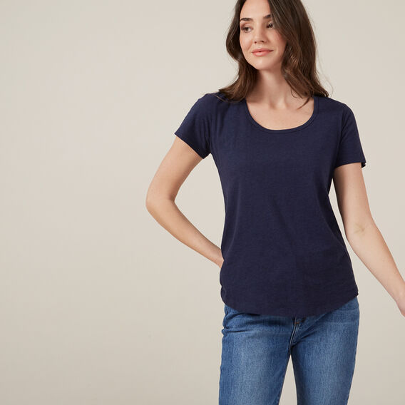 ESSENTIAL SCOOP NECK TEE  NOCTURNAL MARLE  hi-res