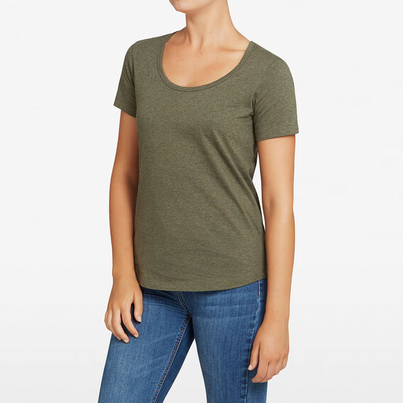 ESSENTIAL SCOOP NECK TEE  KHAKI MARLE  hi-res