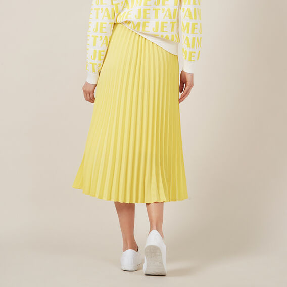 YELLOW PLEAT SKIRT  YELLOW  hi-res