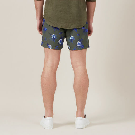 FLORAL SWIM SHORT  KHAKI  hi-res