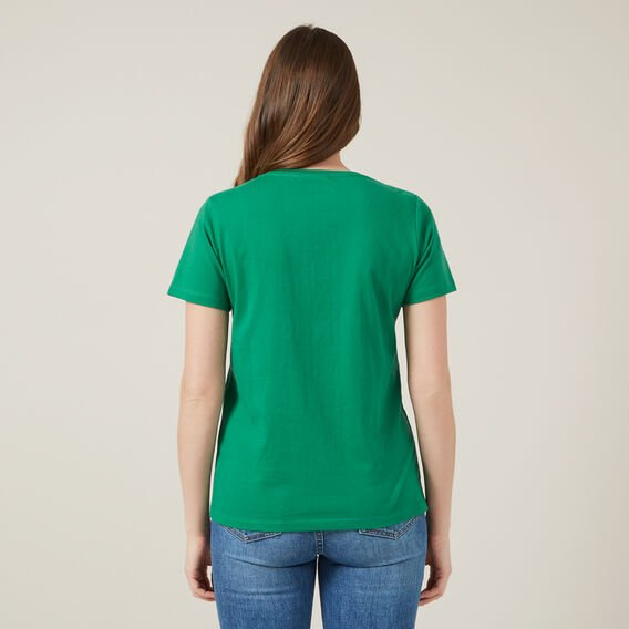 CLASSIC CREW NECK TEE  SPRING GREEN  hi-res