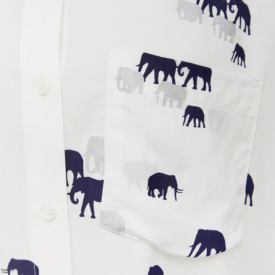 WALKING ELEPHANTS CORE SHIRT  WHITE/NAVY/SILVER  hi-res