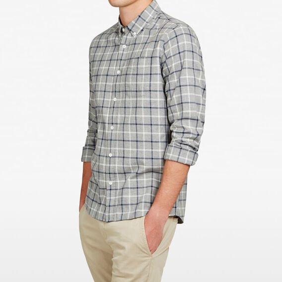 MULTI GRID REGULAR FIT SHIRT  GREY MELANGE  hi-res
