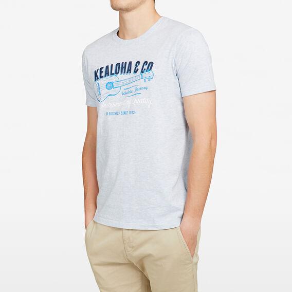 UKULELE CREW NECK T-SHIRT  SKY BLUE MARL  hi-res
