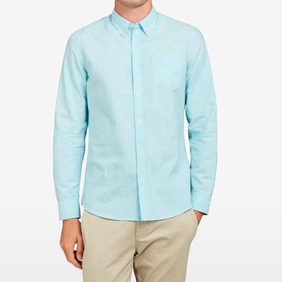 LIGHTWEIGHT OXFORD SLIM FIT SHIRT  AQUA  hi-res