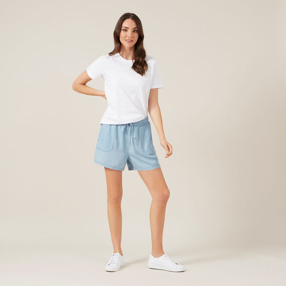 TENCEL SHORT  CHAMBRAY  hi-res