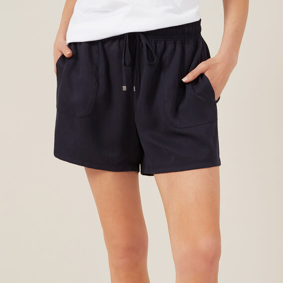 TENCEL SHORT  NAVY  hi-res