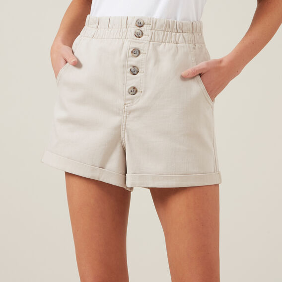 HIGH WAIST SHORT  STONE  hi-res