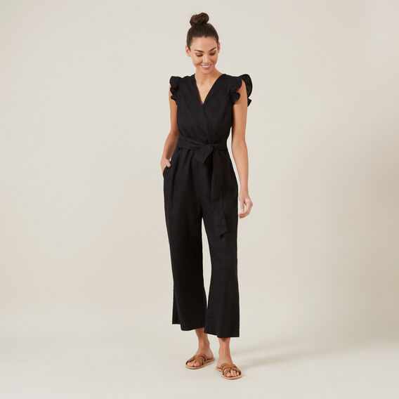 WIDE LEG JUMPSUIT  BLACK  hi-res