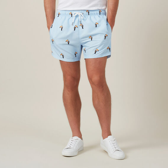 TOUCAN SWIM SHORT  PALE BLUE  hi-res