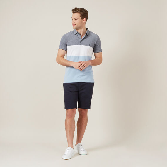BLOCK STRIPE POLO  PALEBLUE/WHITE/MARIN  hi-res