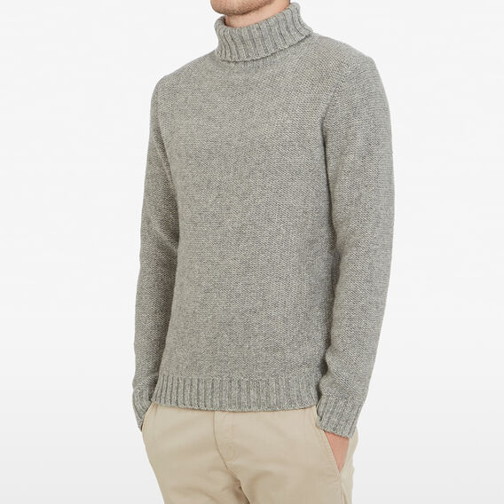 TURTLE NECK KNIT  CHARCOAL MARL  hi-res