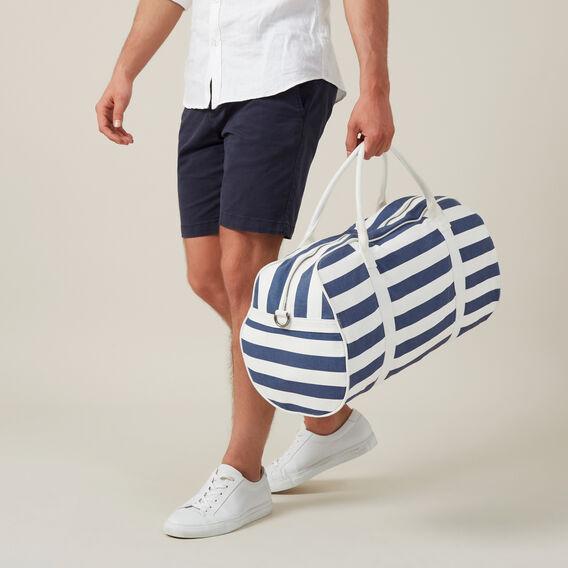 STRIPE DUFFLE BAG  NAVY/WHITE  hi-res