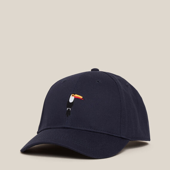 TOUCAN EMBROIDERED CAP  MARINE BLUE  hi-res