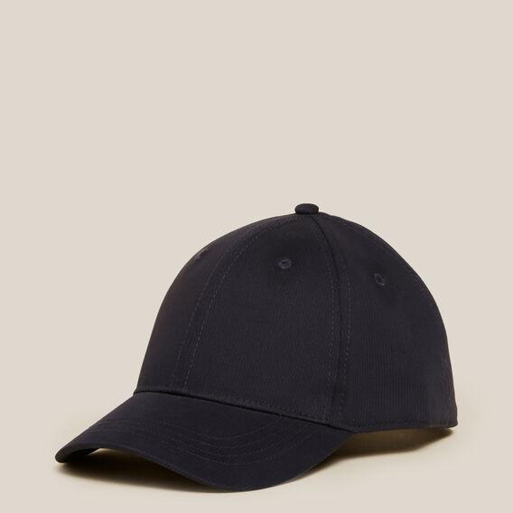 PLAIN COTTON CAP  MARINE BLUE  hi-res