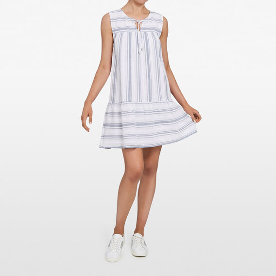 STRIPE SUMMER SHIFT DRESS  SUMMER WHITE/NOCTURN  hi-res