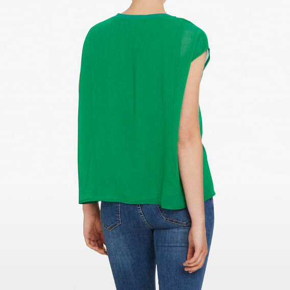 SPLICED RELAXED TEE  LEAF GREEN  hi-res