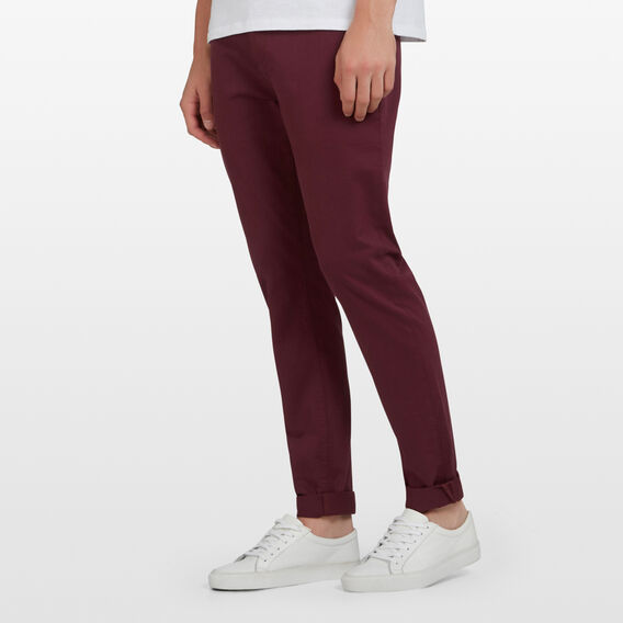 SLIM FIT STRETCH CHINO PANT  DARK BURGUNDY  hi-res