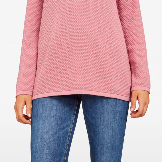 BOBBLE SPOT KNIT  DARK BLUSH  hi-res