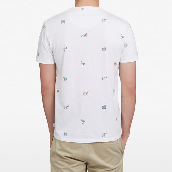SAFARI ANIMALS T-SHIRT  WHITE  hi-res