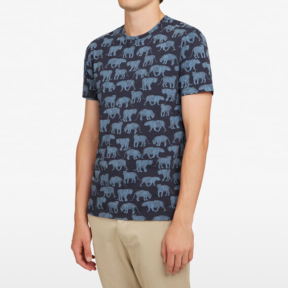 ROAMING TIGERS T-SHIRT  NAVY  hi-res