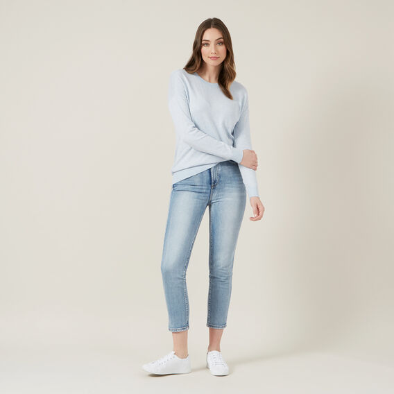 RELAXED LIGHTWEIGHT KNIT  BLUE MARL  hi-res