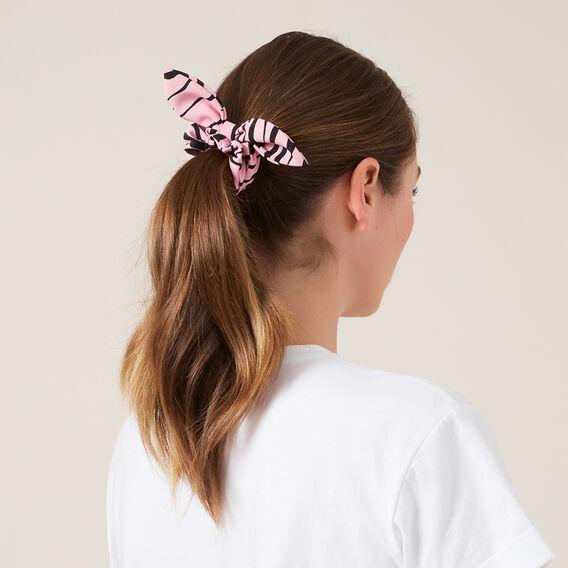 TIGER HAIR SCRUNCHIE  PINK  hi-res