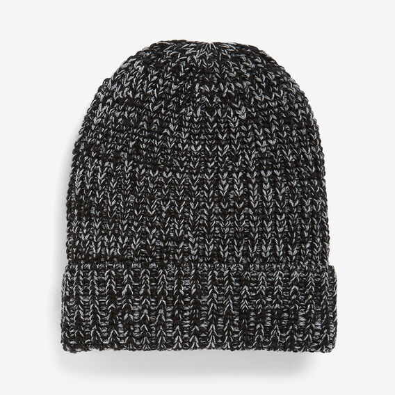 MIXED YARN BEANIE  BLACK  hi-res