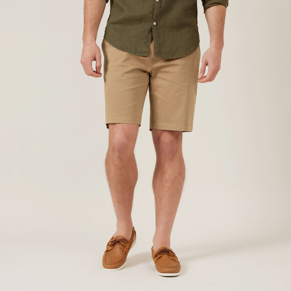 RELAXED FIT STRETCH CHINO SHORT  TOBACCO  hi-res