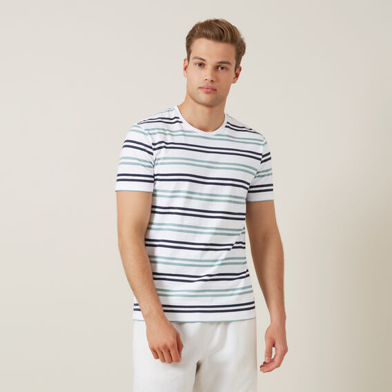 STRIPE T-SHIRT  MINT/WHITE  hi-res