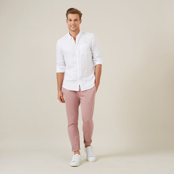 SLIM FIT STRETCH CHINO PANT  DUSTY PINK  hi-res