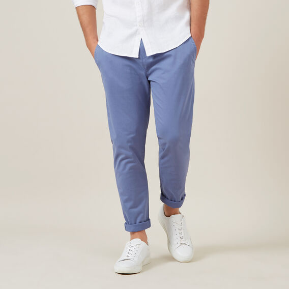REGULAR FIT STRETCH CHINO PANT  PACIFIC BLUE  hi-res