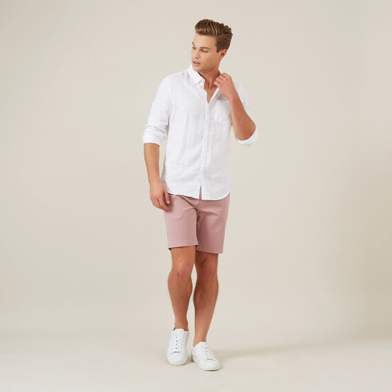 SLIM-FIT STRETCH CHINO SHORT  DUSTY PINK  hi-res
