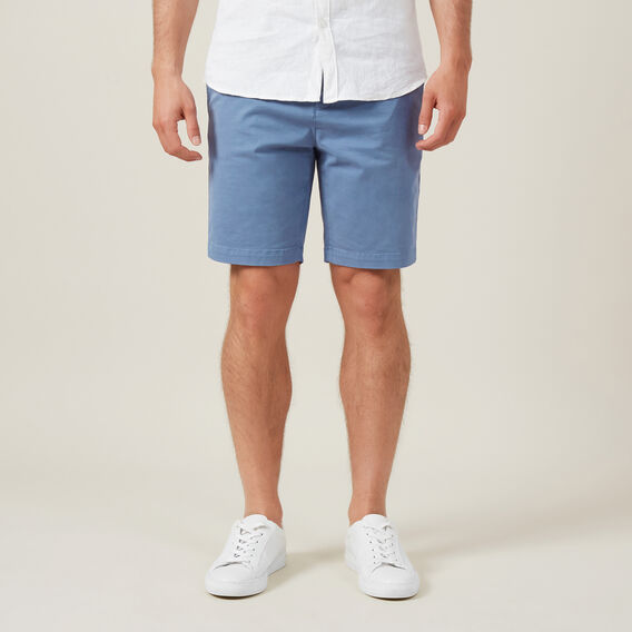 SLIM-FIT STRETCH CHINO SHORT  PACIFIC BLUE  hi-res