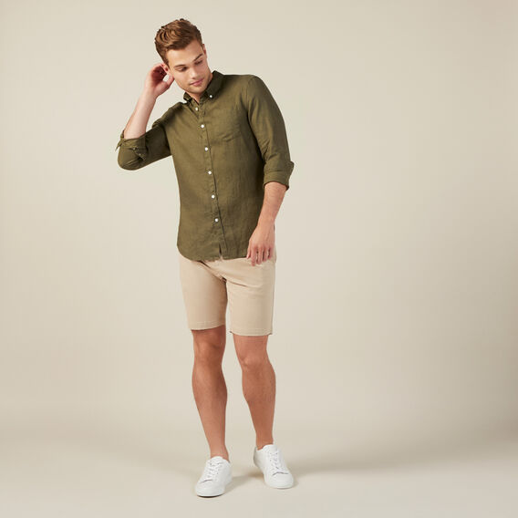 SLIM-FIT STRETCH CHINO SHORT  STONE  hi-res