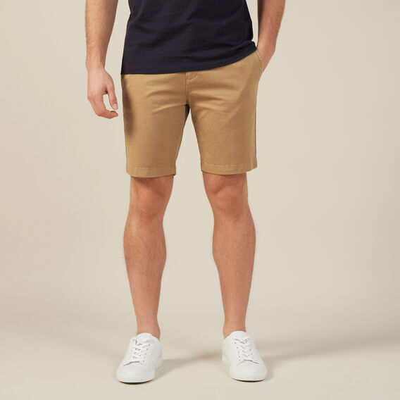SLIM-FIT STRETCH CHINO SHORT  TOBACCO  hi-res
