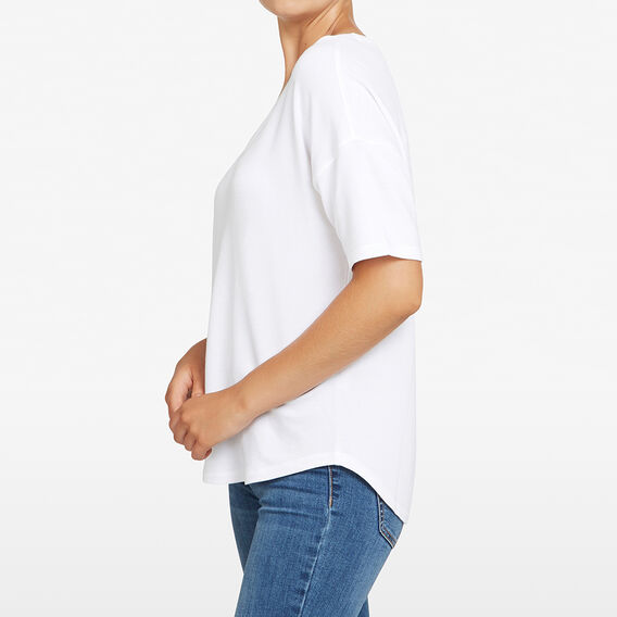 V NECK SLOUCHY TEE  OFF WHITE  hi-res