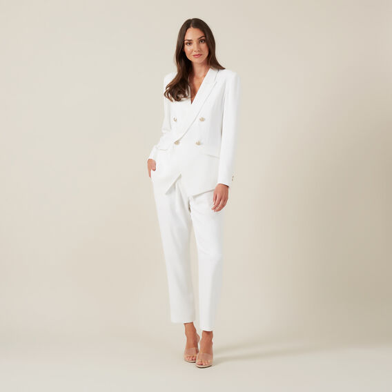 SOFT TAILORED PANT  WHITE  hi-res