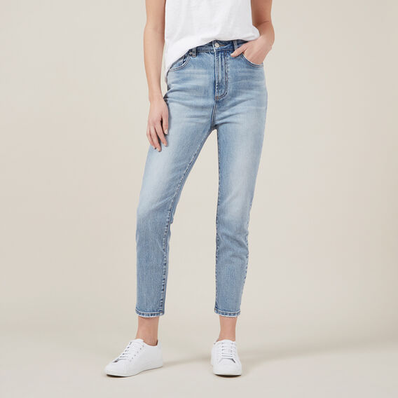 HIGH WAIST SLIM JEANS  LIGHT VINTAGE  hi-res