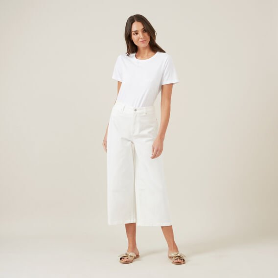 WIDE LEG JEAN  WHITE  hi-res